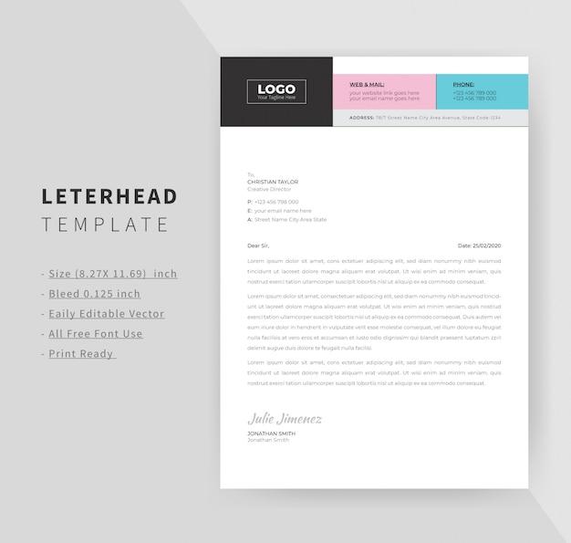 Projekt szablonu papieru firmowego dla pakietu office