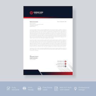 Projekt szablonu papieru firmowego nowoczesny kreatywny