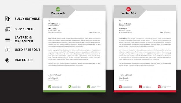 Projekt szablonu papieru firmowego