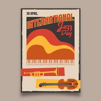 Projekt szablonu plakat międzynarodowego dnia jazzu