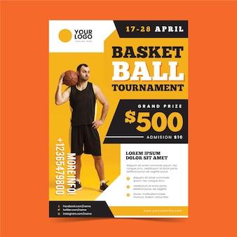 Projekt szablonu plakatu sportowego