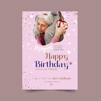 Projekt szablonu plakatu urodzinowego