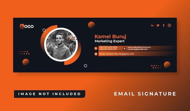 Projekt szablonu podpisu e-mail firmy osobistej