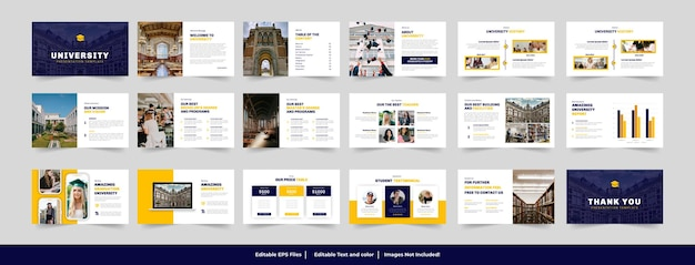 Projekt szablonu prezentacji uczelni i edukacji