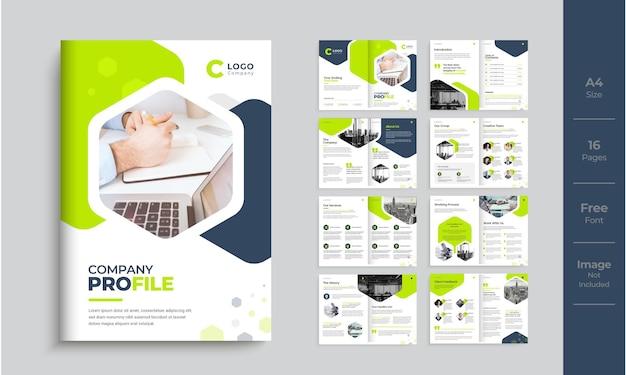 Projekt szablonu profilu firmy nowoczesny minimalistyczny projekt broszury wielostronicowej