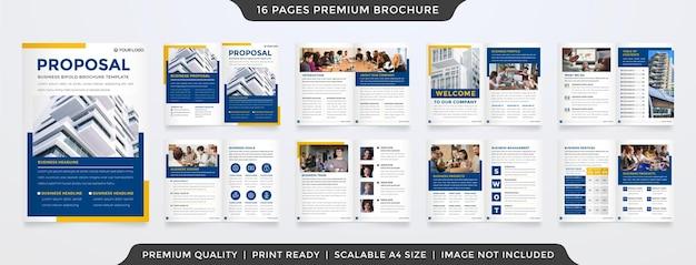Projekt szablonu propozycji biznesowej w minimalistycznym stylu