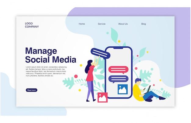 Projekt szablonu social media strony docelowej