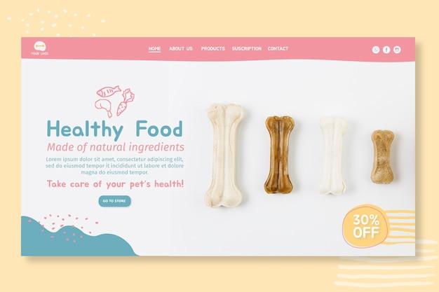 Projekt szablonu strony docelowej karmy dla zwierząt