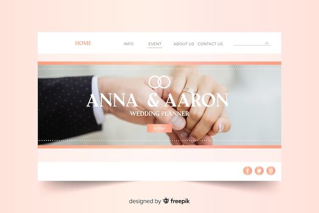 Projekt szablonu strony docelowej ślubu