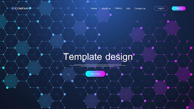 Projekt szablonu strony internetowej.