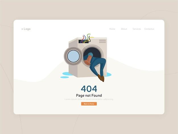 Projekt szablonu strony konserwacji płaskiej witryny sieci web