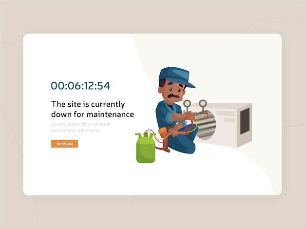 Projekt szablonu strony konserwacji witryny sieci web