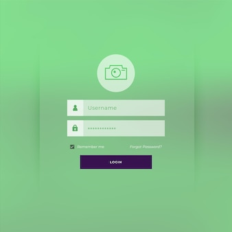 Projekt szablonu strony logowania z motywem zielonym