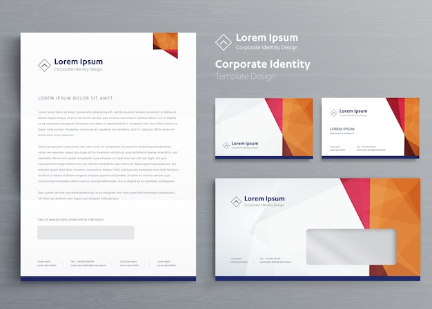 Projekt szablonu tożsamości korporacyjnej firmy