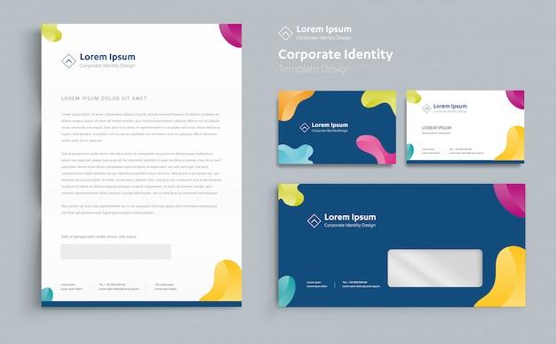 Projekt szablonu tożsamości korporacyjnej vector