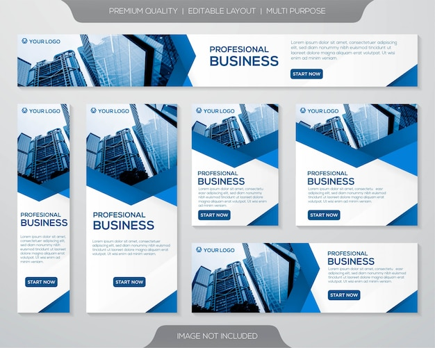 Projekt szablonu transparent firmy