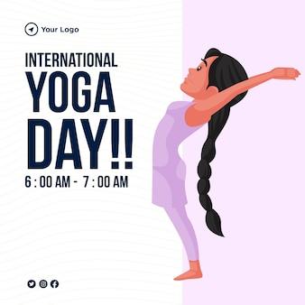 Projekt szablonu transparentu międzynarodowego dnia jogi