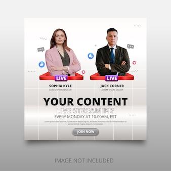 Projekt szablonu transparentu na żywo z ikonami emoji