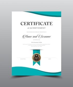Projekt szablonu układu certyfikatu. luksusowy i nowożytny styl, wektorowa ilustracyjna grafika.