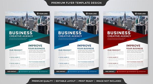 Projekt szablonu ulotki biznesowej w stylu premium