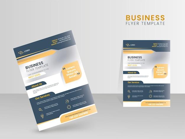 Projekt szablonu ulotki biznesowej