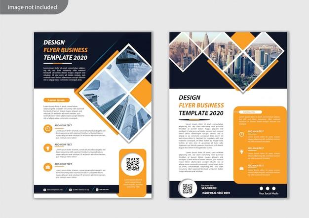 Projekt szablonu ulotki dla raportu rocznego układu okładki