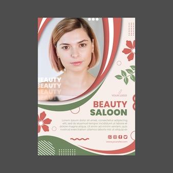 Projekt szablonu ulotki pionowej salonu piękności