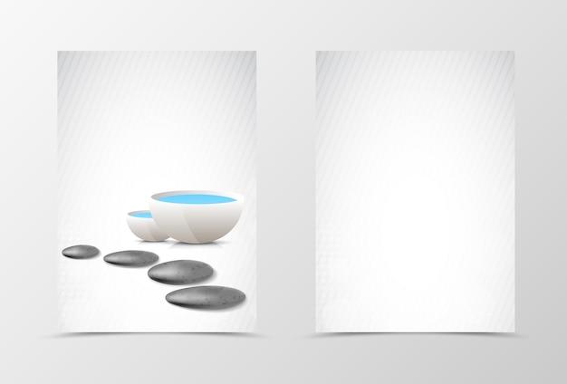 Projekt szablonu ulotki spa z przodu iz tyłu