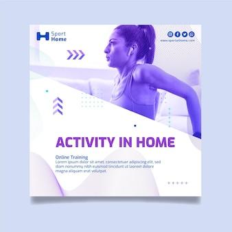 Projekt szablonu ulotki sport w domu