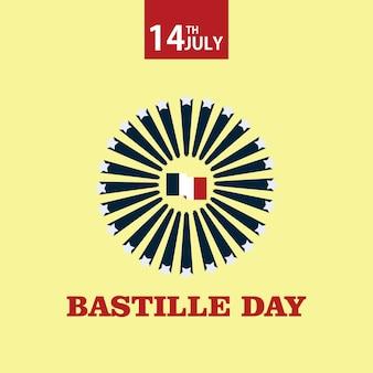 Projekt szablonu wektor dzień bastylii