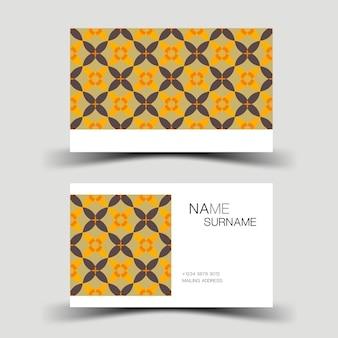 Projekt szablonu wizytówki żółty