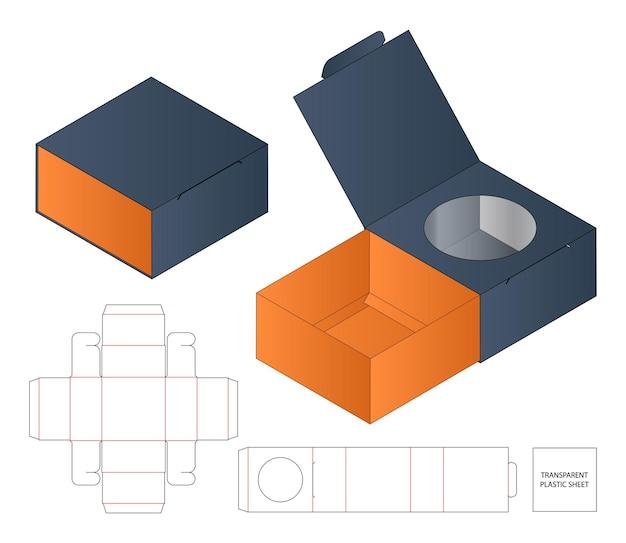 Projekt szablonu wycinanego opakowania kartonowego