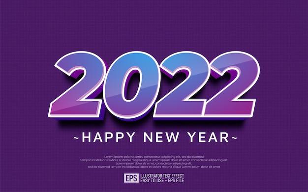 Projekt szczęśliwego nowego roku 2022 w błyszczącym stylu numer