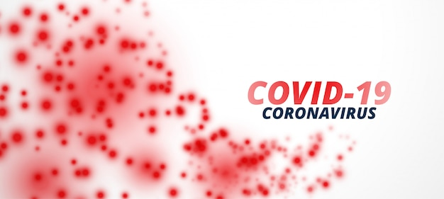 Projekt sztandaru cząstek wirusa koronawirusa covid-19