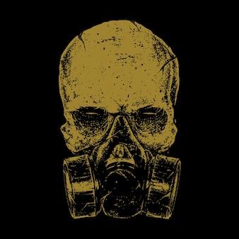 Projekt sztuki ilustracji horroru czaszki