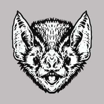 Projekt sztuki ilustracji nietoperza zwierząt