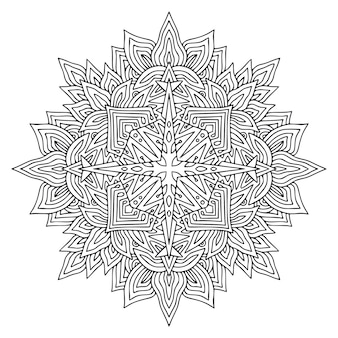 Projekt sztuki mandali. czeski wzór ozdobny