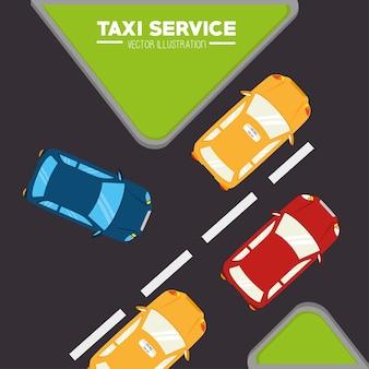 Projekt taksówki, ilustracji wektorowych.