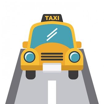 Projekt taksówki na białym backgroundvector ilustracji