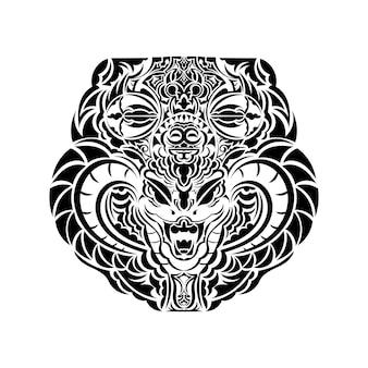 Projekt tatuażu maorysów. pomysł na tatuaż
