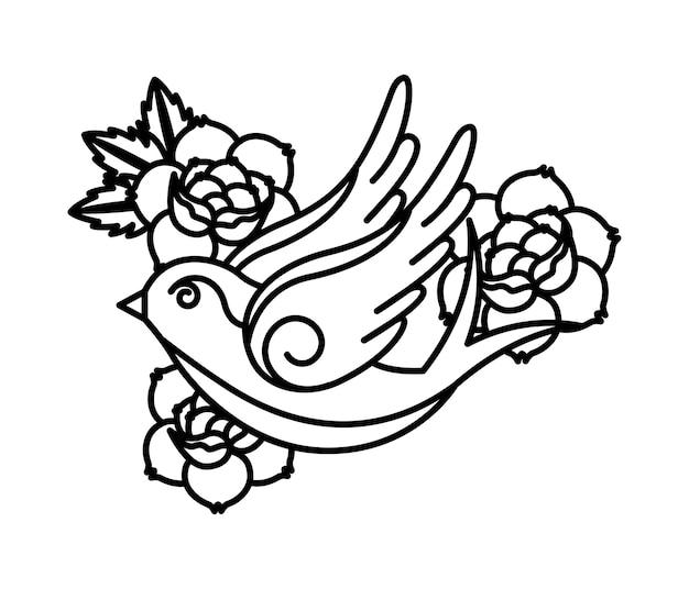 Projekt tatuażu róż