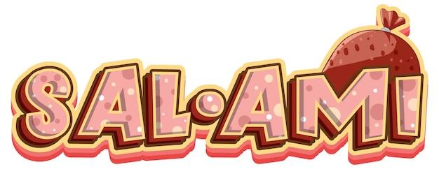 Projekt tekstu logo salami