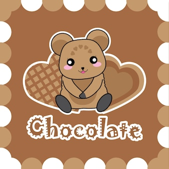 Projekt tła czekolady