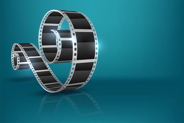 Projekt tła filmu filmowego