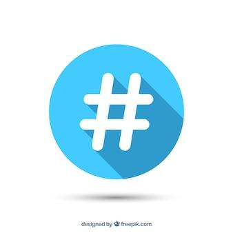 Projekt tła hashtag