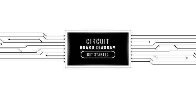 Projekt tła linii obwodu technologii cyfrowej