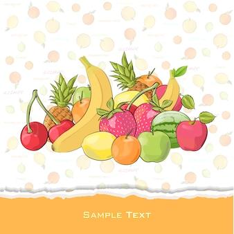 Projekt tła owoców