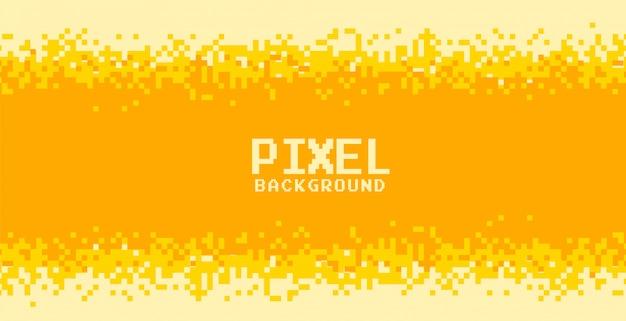 Projekt tła pikseli w żółtych i pomarańczowych odcieniach