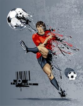 Projekt tła piłki nożnej