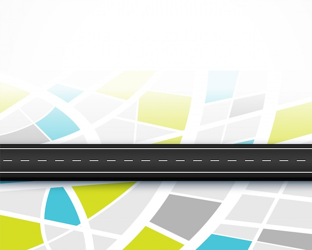 Projekt tła podróży mapy drogowej trasy podróży